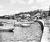 Philadelphia Historic Black & White Photo, Boathouse Row on the Schuylkill River, c1907
