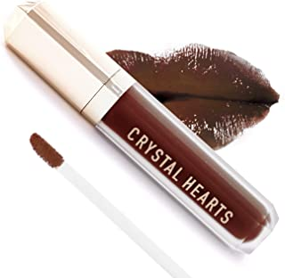 product image for CrystalHearts Matte Liquid Lipstick - Long-Lasting and Non Transfer Kiss Proof Makeup Lip Gloss- Cruelty & Paraben Free Hydrating Lip - Made in USA (Brandie)