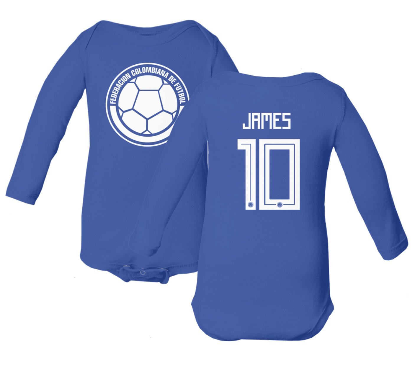 Amazon.com  Tcamp Colombia 2018 National Soccer  10 James RODRIGUEZ World  Championship Little Infant Baby Long Sleeve Bodysuit  Sports   Outdoors 9e4463a00