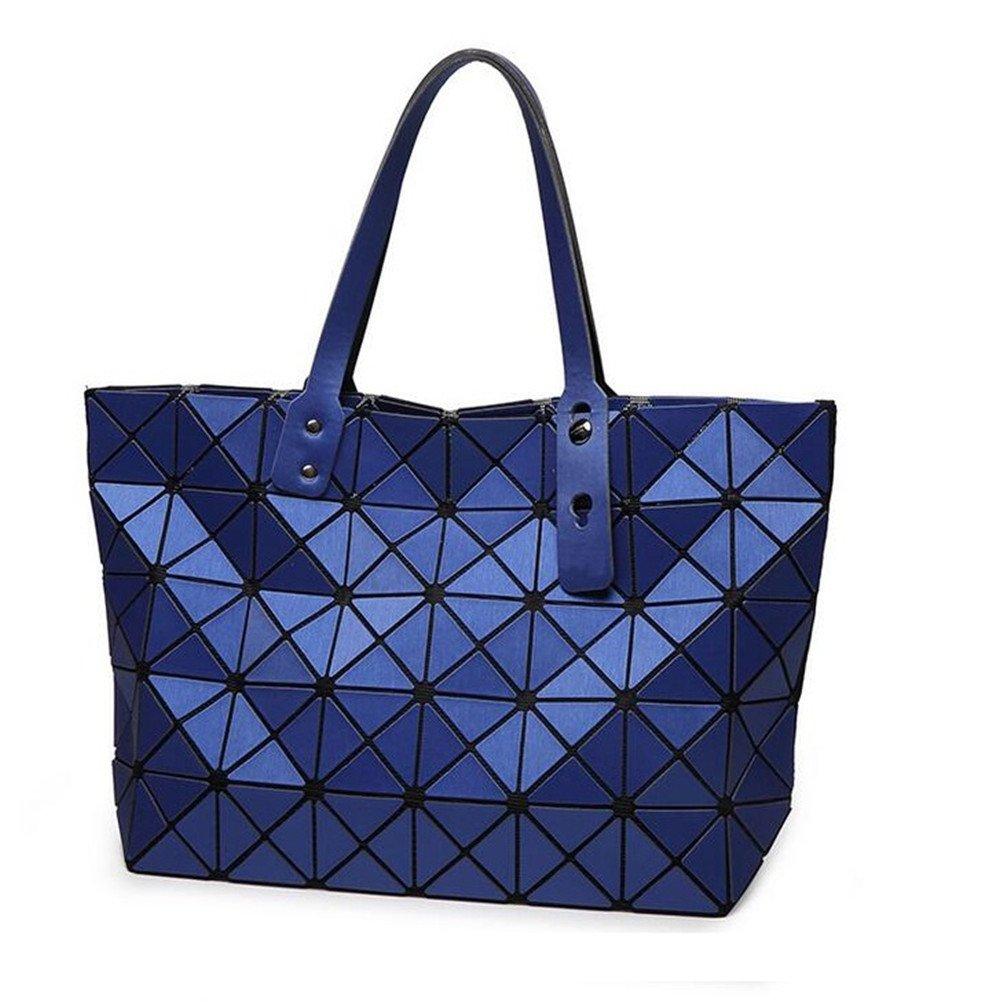 Brand Style Women Geometric Plaid Vertical Shoulder Bag Matt Surface Bag 7 Colors