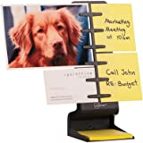 "NoteTower Desktop Mini Black - Sticky Note Organizer and Dispenser - Holds and Displays Photos, Sticky Notes and Business Cards + Bonus 50 Sheets 3"" x 3"" Sticky Notes"