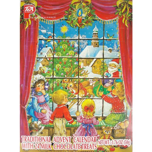 Amazon.com : Pea Traditional Advent Calendar with 24 Milk ...