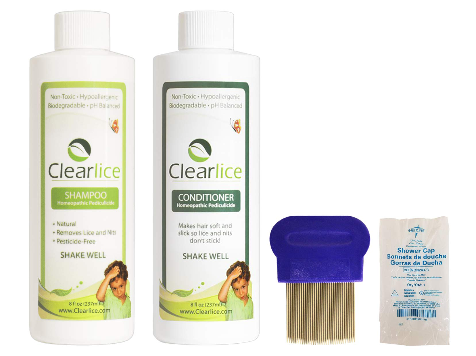One Day Natural Lice Removal Kit - Kills Super Lice and Nits Pesticide Free, Safe & Non-Toxic and - Treats Head and Home - Made in FDA Approved Lab
