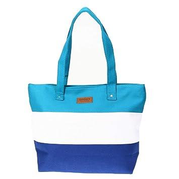b06073b07 Aprigy - Lona de las mujeres bolsos rayados de totalizadores de los bolsos  de las señoras de ...