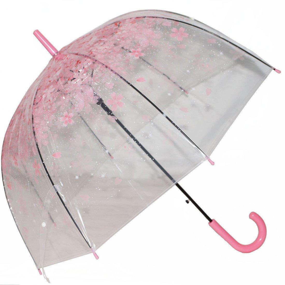 Tinksky Parapluie bulle romantique transparent Parapluie semi-automatique