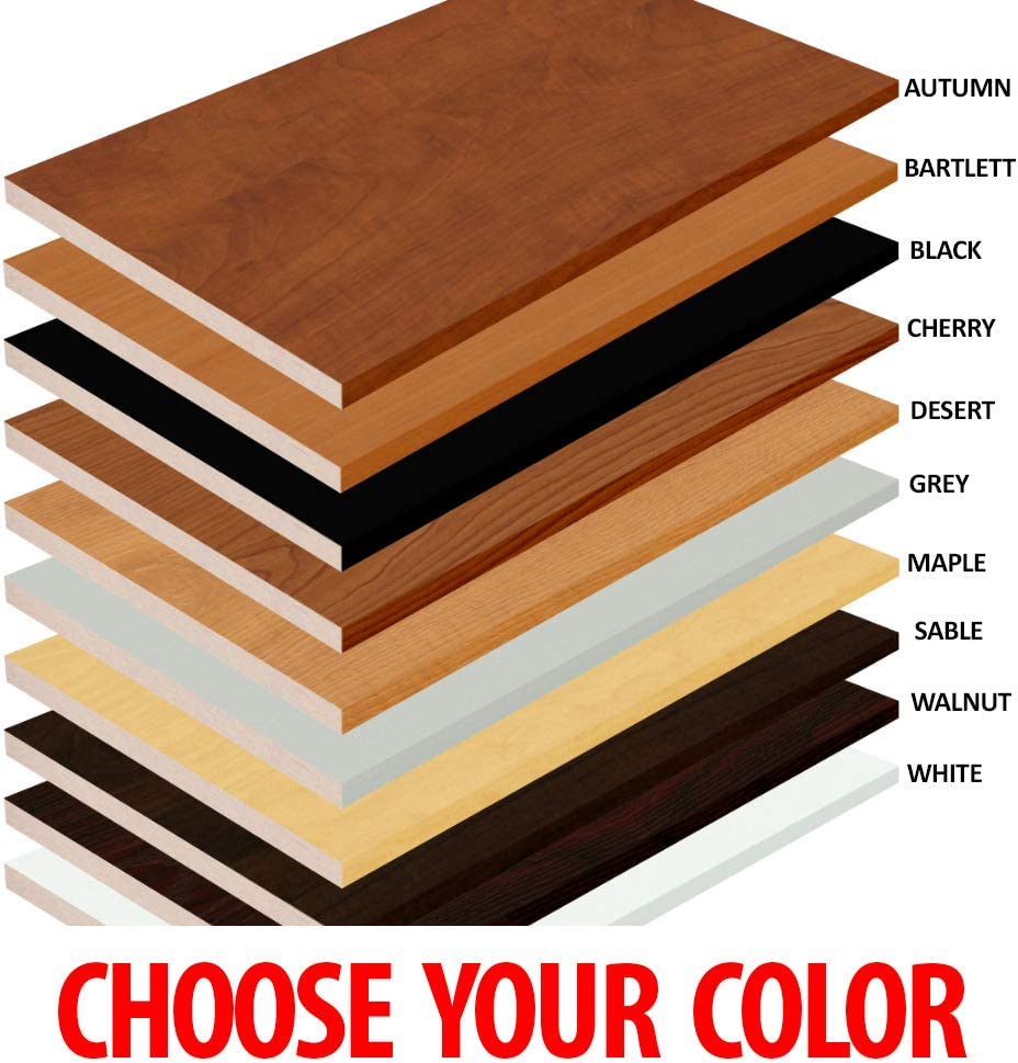 2 Pack 20 x 26 Melamine White Choose Your Accurate Size Black Red or Other Colors Laminate Shelf 1//8, 1//4, 3//8, 1//2