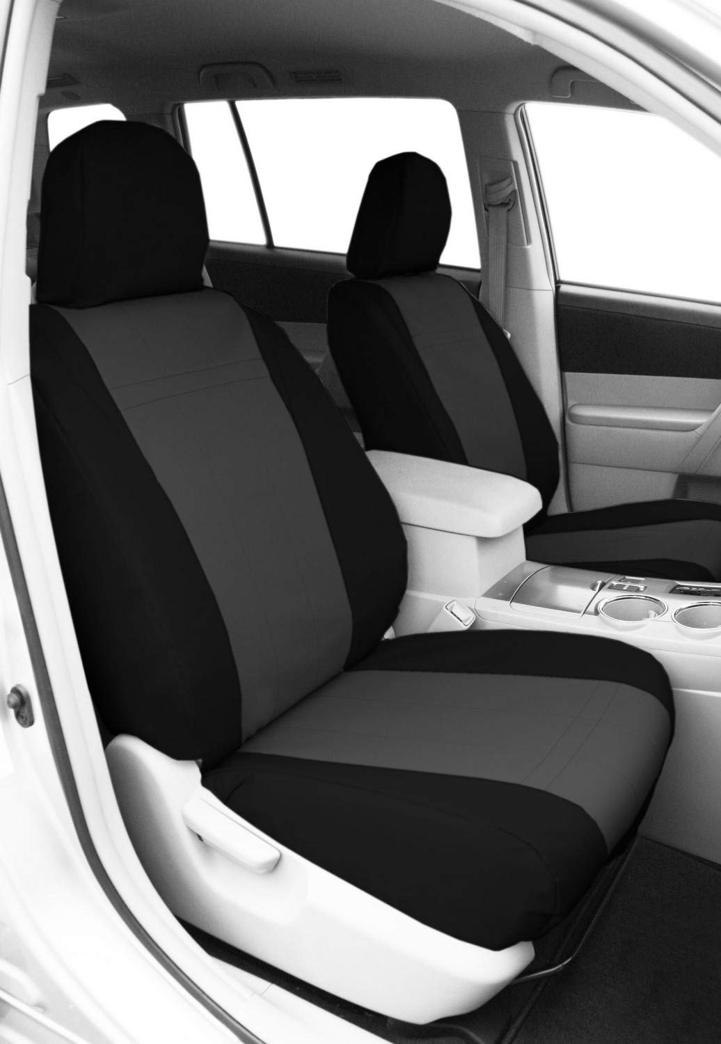 CalTrend Charcoal Water Proof Cordura Front Buckets Custom Fit Seat Cover for Select Toyota Tacoma TY217-03CC