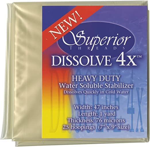 30in X 2yds Badgemaster Heavy Weight Water Soluble Embroidery Stabilizer// Backing// Film