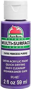 Apple Barrel Multi Surface Acrylic Paint, 2 oz, Princess Purple 2 Fl Oz