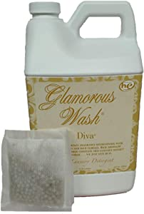 Tyler Candle Glamorous Wash Diva Half Gallon (64 OZ) Laundry Detergent/with Glamorous Sachet Single Pouch