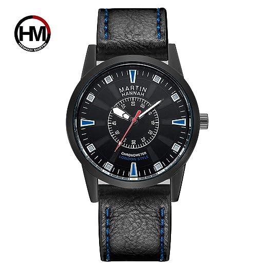 Exquisito Reloj Deportivo con Esfera Hannah Martin HM-1701 Reloj de Pulsera Impermeable para Hombres: Amazon.es: Relojes