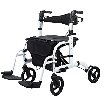 Amazon.com: BEYOUR Walker Silla de transporte plegable ...