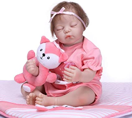 Vinyl Newborn Girl Doll Pre-pregnancy Teaching Toy Pretend Mom Role Toy Pink