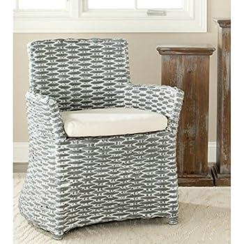 Safavieh Home Collection Cabana Grey White Wash Arm Chair