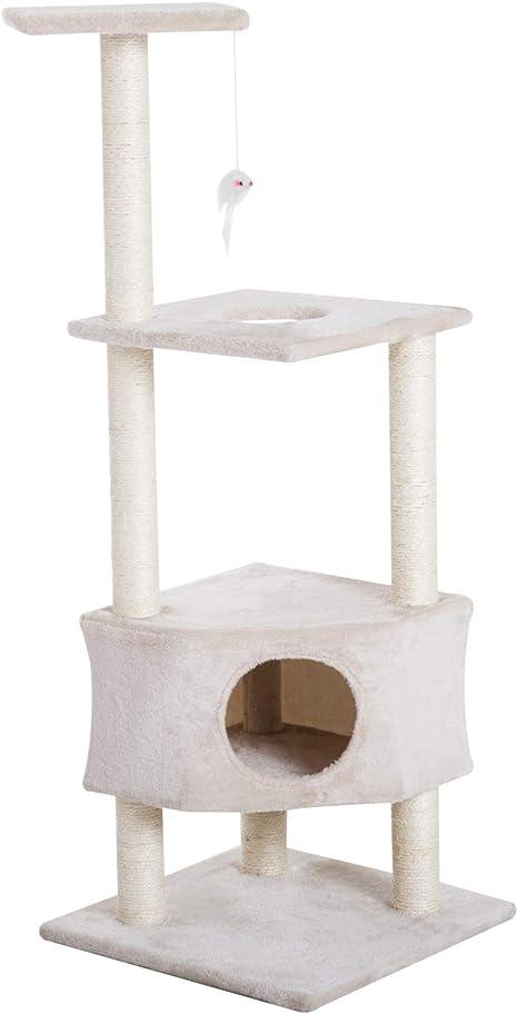 PawHu - Torre de Escalada para Gato con rascador y Percha de ...