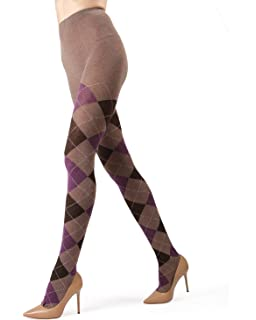 348fbb7b0c2fe HUE Women's Plaid Tights with Control Top at Amazon Women's Clothing ...