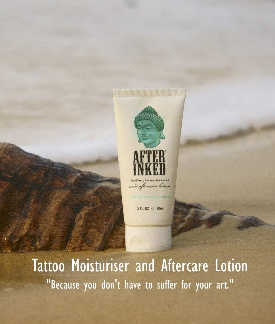 After Inked Tattoo Moisturiser and Aftercare Lotion 3 oz (90ml ...