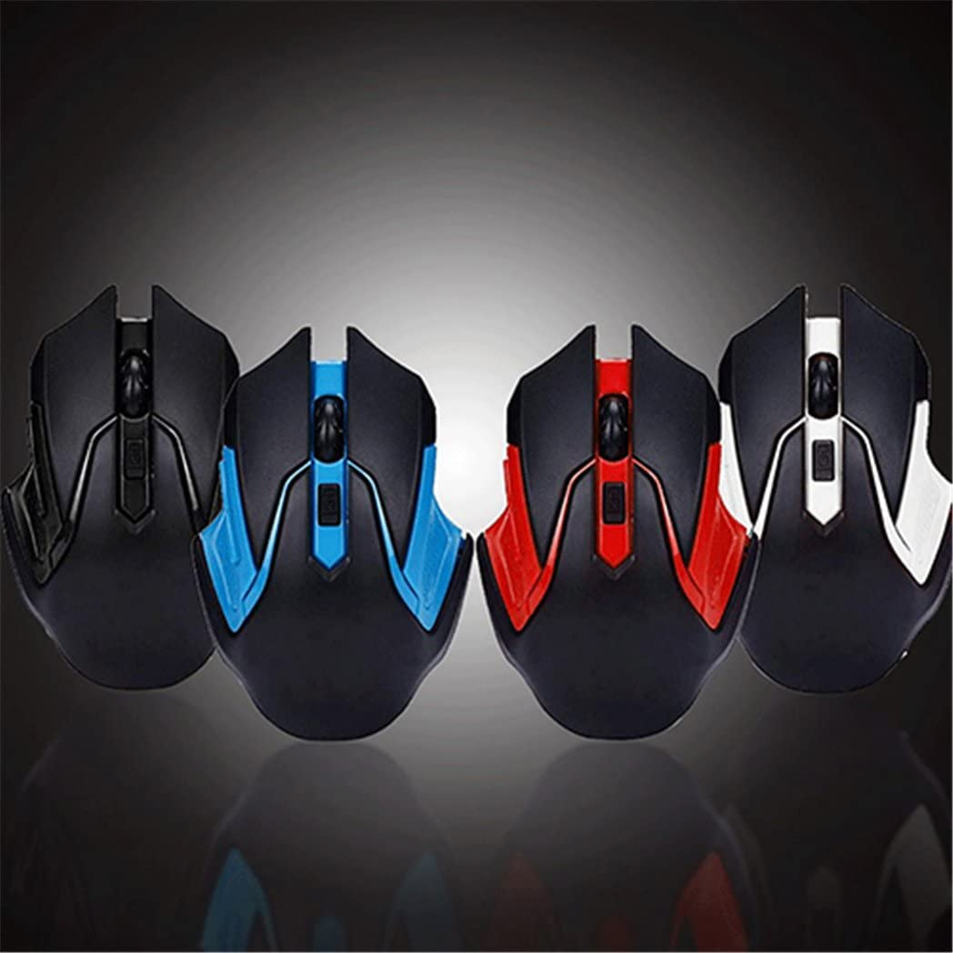 Brave669 2.4GHz Wireless Gaming Game Mouse Mice USB Receiver for Computer PC Laptop Red