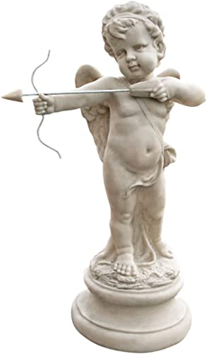 Design Toscano Cupid's Message of Love Statue,Antique Stone