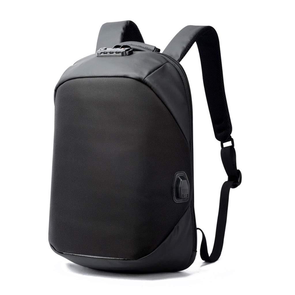 大容量の偶然USB充満旅行バックパック、人の防水ラップトップビジネスバックパックの黒 (Color : ブラック, Size : M m) B07PW5TXN2