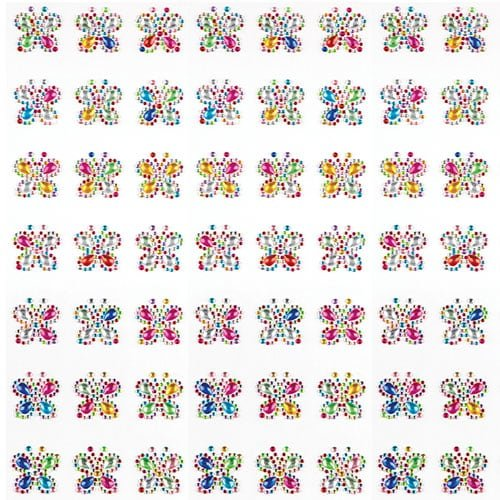 Baker Ross Rainbow Butterfly Self-Adhesive Acrylic Gems for Children to Decorate and Personalise Cards & Crafts - Gem Stickers for Kids (Pack of 20) - Decorations for Mother's Day or Mardi Gras
