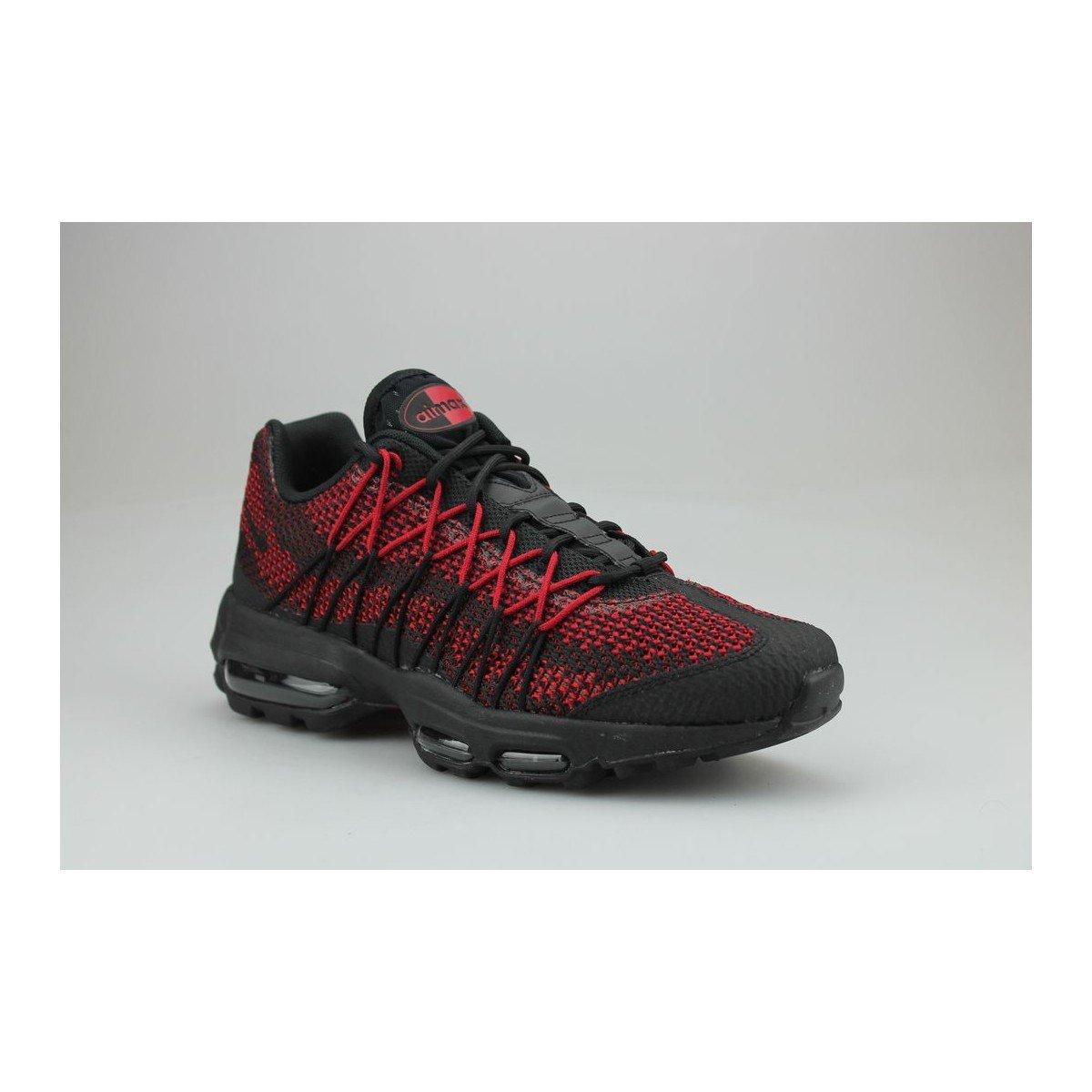 wholesale dealer 63b5d b380b Nike Air Max 95 Ultra Jacquard Noir Rouge: Amazon.fr: Chaussures et Sacs