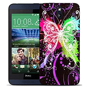 New Hard Printed BEAU ARTS Cover for HTC Desire 610 case - multi dragonfly & Stylus by ruishername