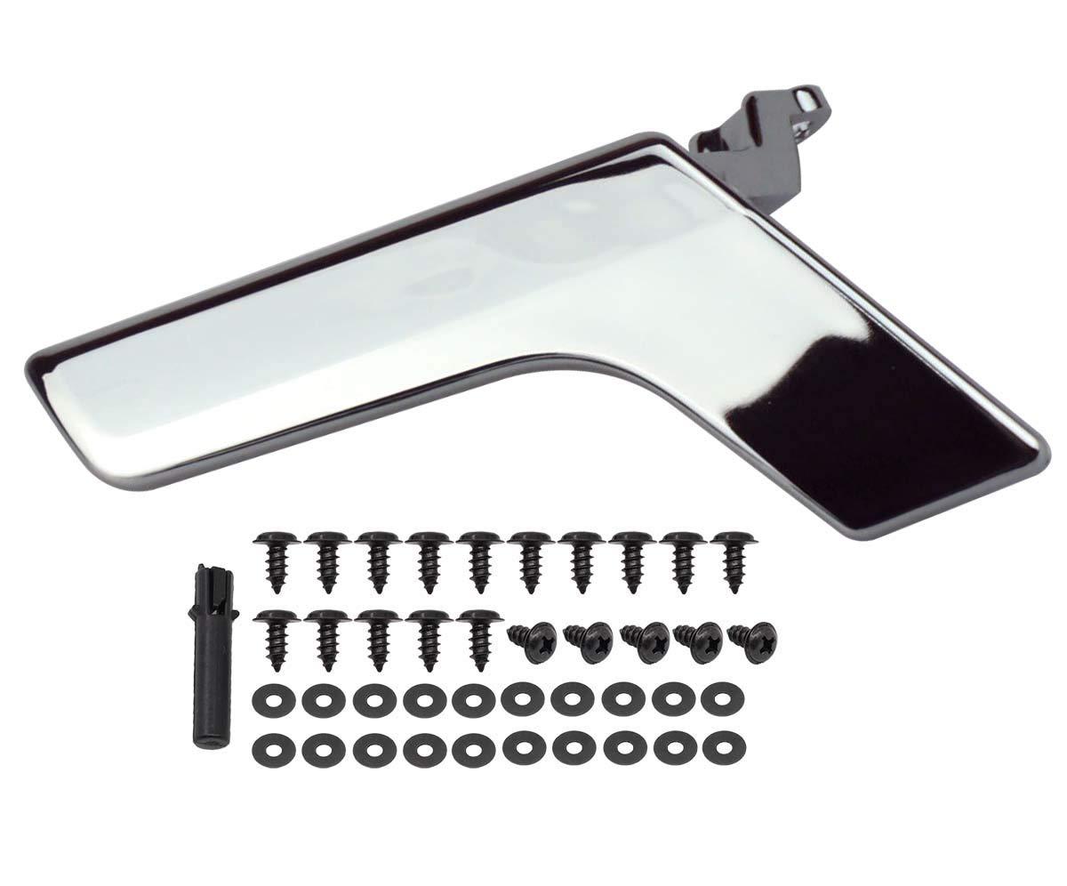 Left Side Chrome Inside Interior Door Handle Repair Kit For Mercedes W204 X204 W204 C-CLASS (Sedan & Wagon) 2008, 2009, 2010, 2011, 2012, 2013, 2014 MOTOKU