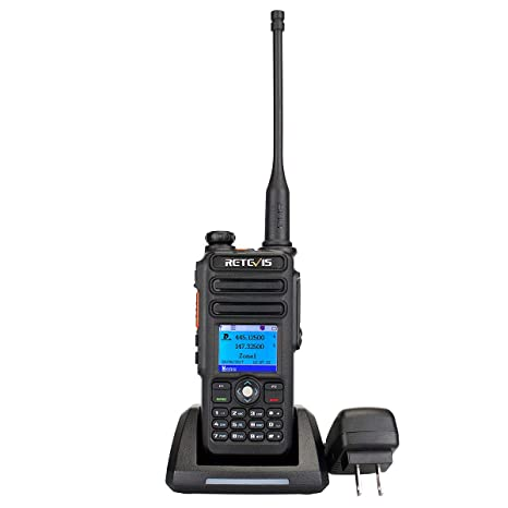 Retevis RT82 Dual Band GPS DMR Digital 2 Way Radio Waterproof IP67 3000  Channels 10000 Contacts List Ham Amateur Radio with Record Function(1 Pack)