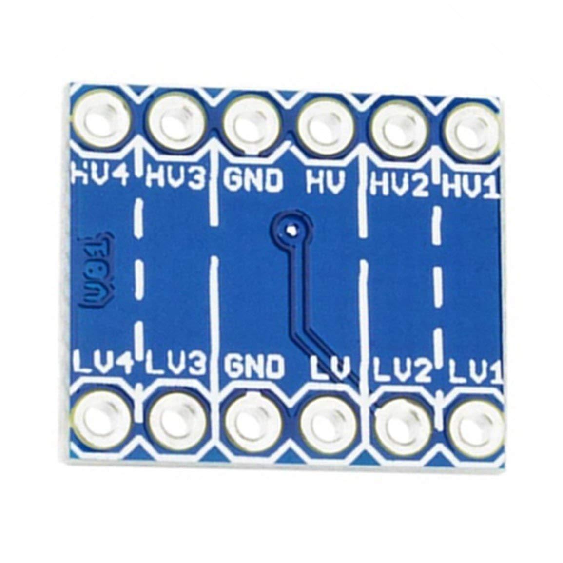 Garciaria Module bidirectionnel de convertisseur de Niveau de logique IIC I2C 5V /à 3.3V pour Arduino Couleur: Bleu