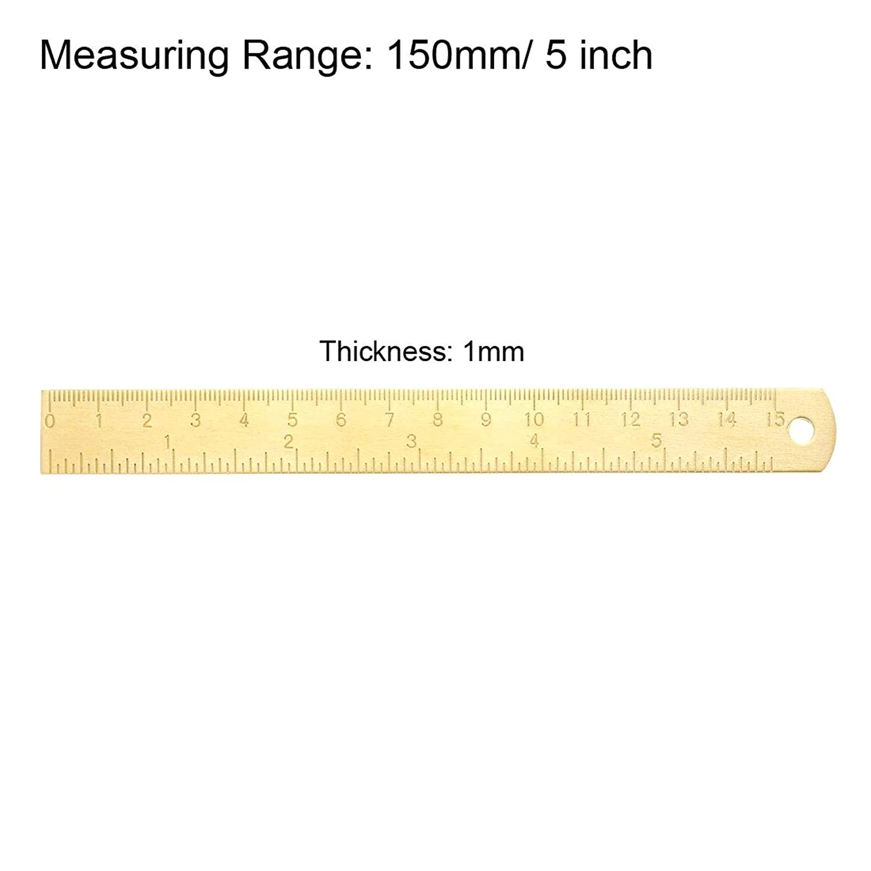Lineale Gerade Lineal Metrisch Dicker Messing Lineale Messwerkzeug Zeichnung Messlineal mit Anging-Loch
