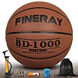 Daping Basketball Outdoor Indoor Official Size 7, Street Basketballs 29.5 Game Ball with Pump, Needles, Net, Wrist and Carrying Bag