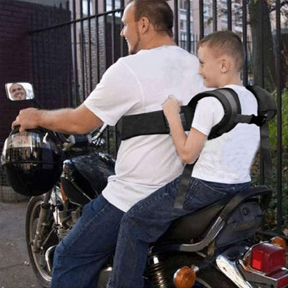 Amacoam Motorrad Sicherheitsgurt Kinderschutzgurt Sicherer Gurtträger Sicherheitsgurte Einstellbar Kinder Motorrad Gurtzeug Stil Sicherheitsgurte Kinder Fallschutz Für Motorrad Elektrofahrzeuge Auto