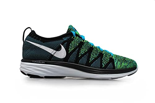 check out 31709 ffc38 Nike Mujer - Wmns Flyknit Lunar2 - Azul Blanco Negro - 5.5 UK / 39 EU / 8  US: Amazon.es: Zapatos y complementos