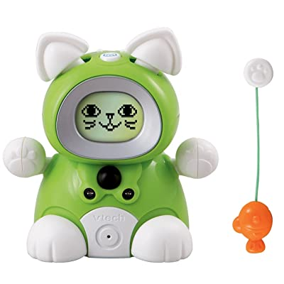 VTech Kidiminiz KidiCat Interactive Pet Cat - Green Kitten: Toys & Games