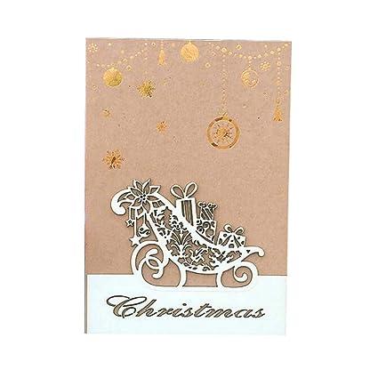 Tarjeta de felicitación navideña de 3 piezas Tarjeta de ...