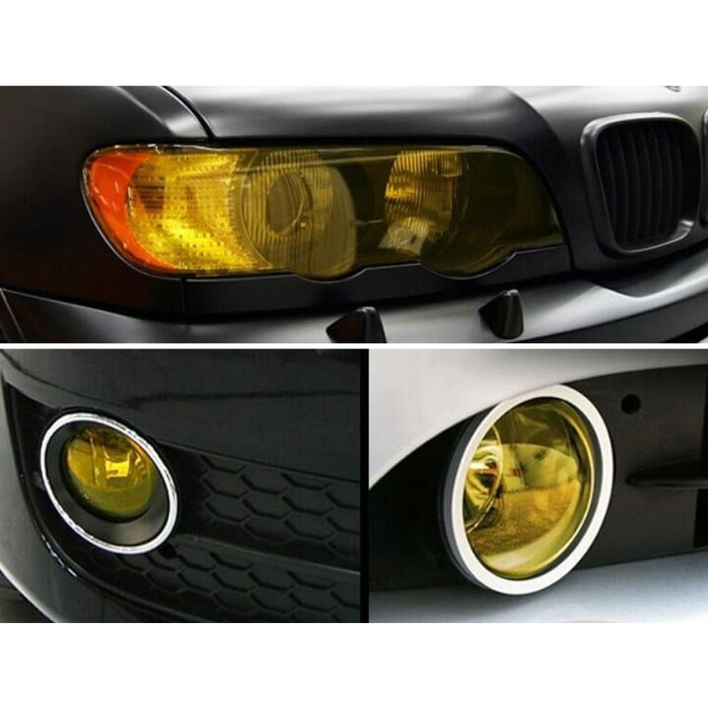 Phare Tailight Jaune En vinyle Wrap Film Housse Autocollant Overlay 30/x 100/cm