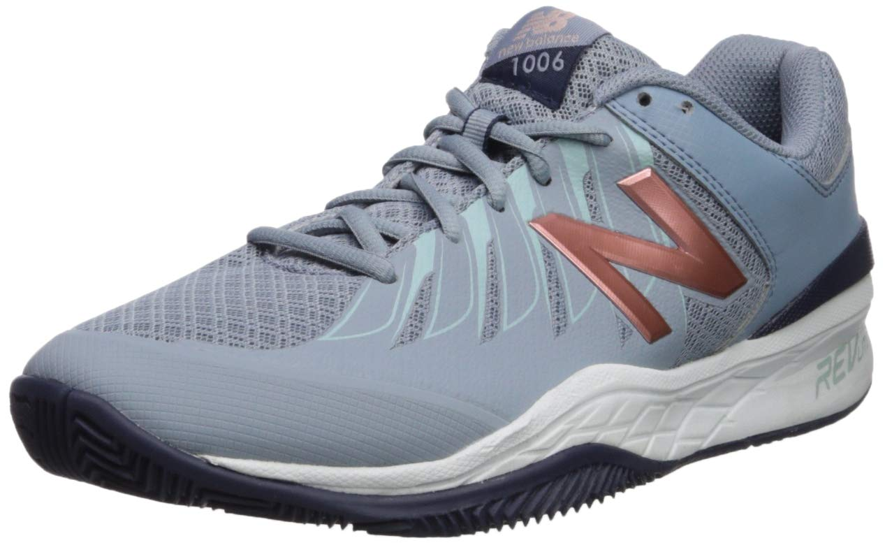 New Balance Women's 1006v1 Hard Court Tennis Shoe, Reflection/Rose Gold, 8.5 D US by New Balance