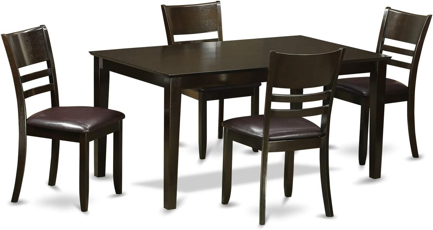 CALY5-CAP-LC 5 Pc Dining room set-Dining Table and 4 Chairs for Dining room
