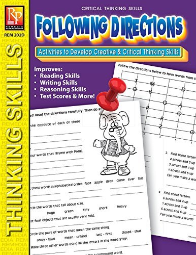 Critical Thinking Skills: Following Directions | Reproducible Activity Book