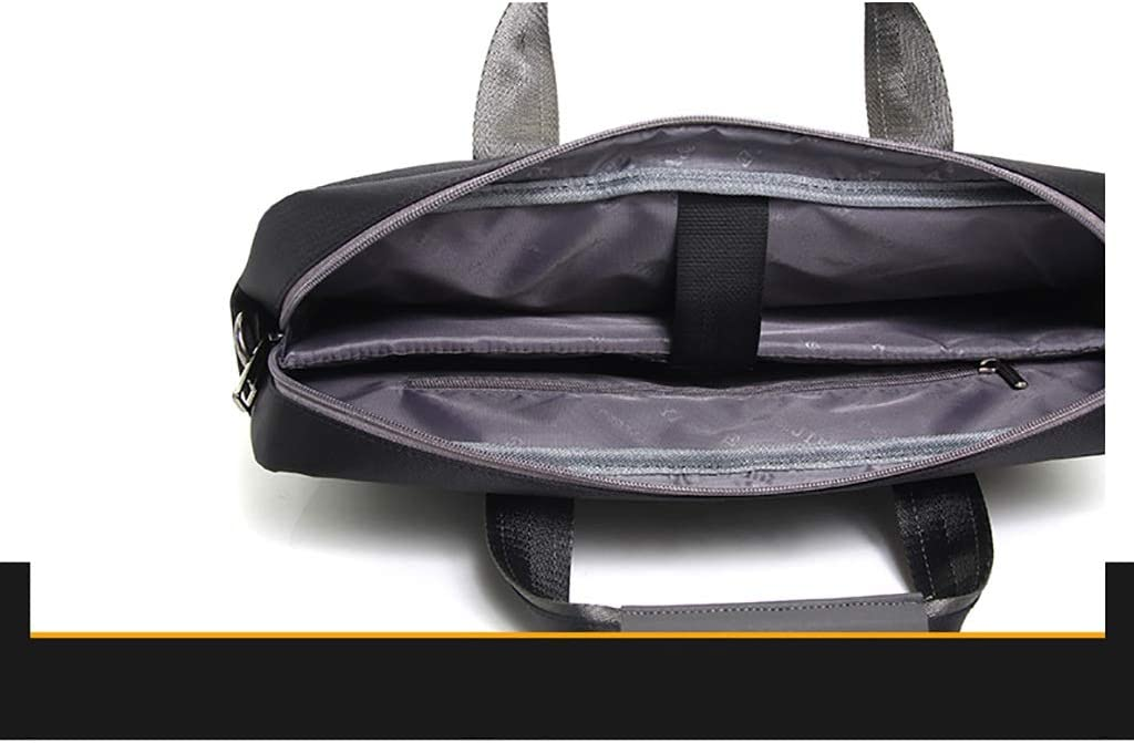 QSJY File Cabinets Mens Portable Waterproof Computer Bag 16 inch Oxford Cloth Leisure Business Bag 41/×30/×8CM Color : Black, Size : 41/×30/×8CM