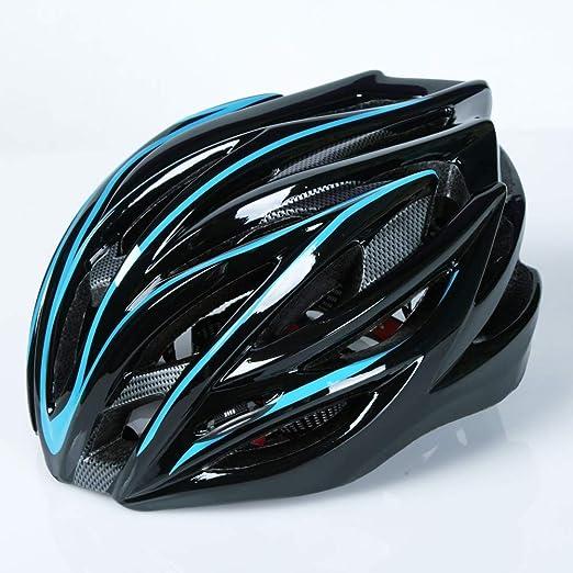 Sanqing Casco para Bicicleta, Bicicleta de montaña, Casco para Montar, moldeo Integrado, Sombrero de Seguridad, Bicicleta de Carretera, Equipo para Hombres y Mujeres, Bicicleta,Blue: Amazon.es: Hogar