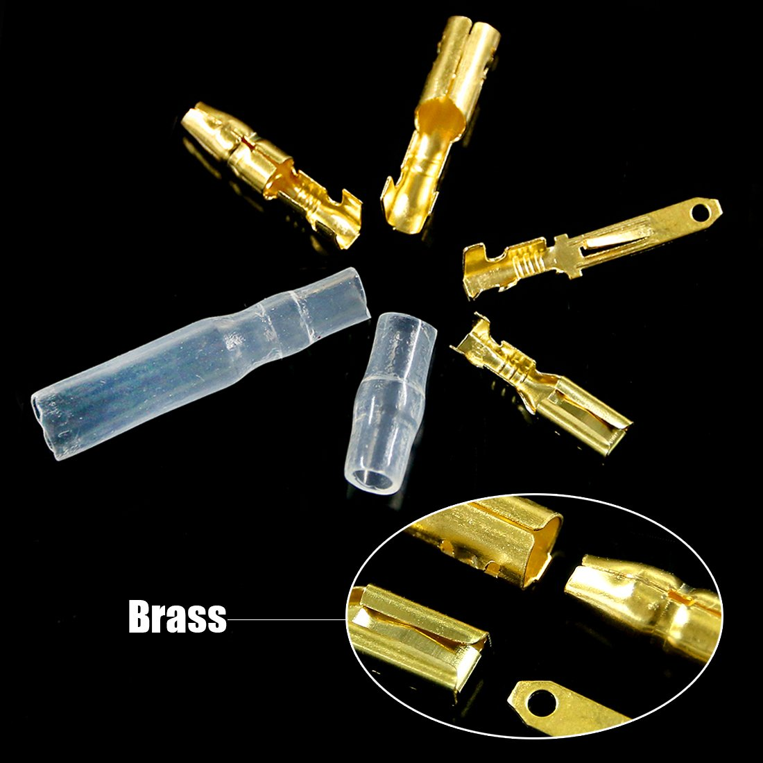 Glarks 700Pcs 2 3 4 6 9 Pin Plug Housing Pin Header Crimp Electrical Wire Terminals Connector and 30 Sets 4mm Car Motorcycle Bullet Terminal Connector Assortment Kit for Motorcycle Bike Boats Car