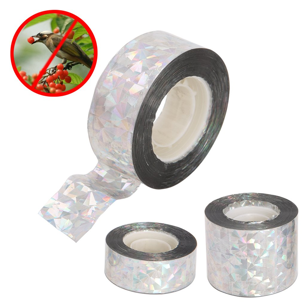 Richi Cinta adhesiva reflectante para evitar p/ájaros 80 m