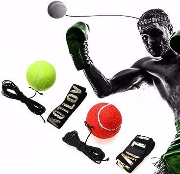 Boxeo Reflex Ball, Reflex Entrenamiento de velocidad boxeo con cinta para la cabeza, Reflex bola de lucha para entrenamiento o Fitness (Pack de 2): Amazon.es: Deportes y aire libre