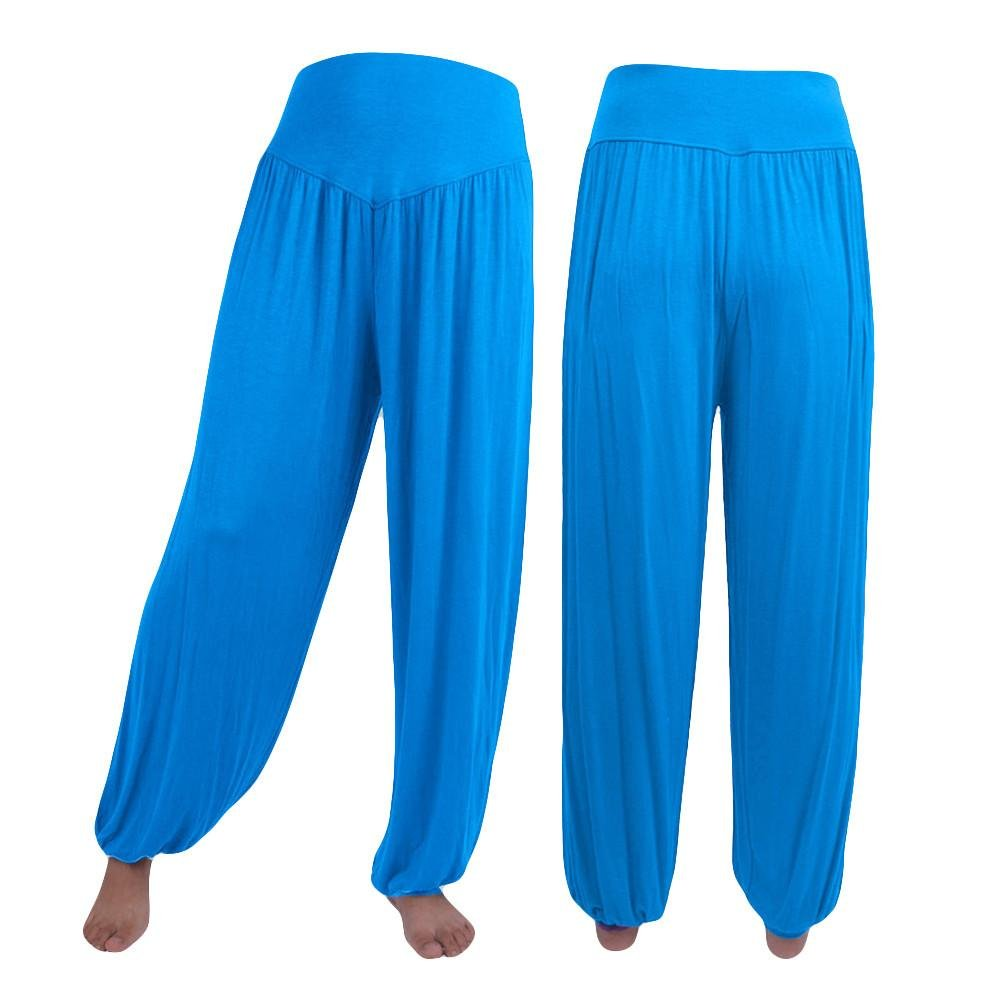 Harem Pants Mikey Store Womens Elastic Loose Casual Modal Cotton Soft Yoga Sports Dance Pants