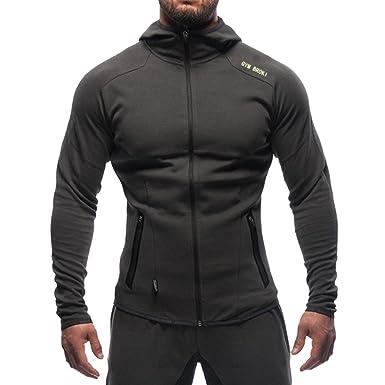 Broki Herren Gym Zip Jacke Kapuze Hoodie Sweatshirt Kapuzenpullover   Amazon.de  Bekleidung bd4aed4159