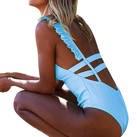 624ac86f0438 ZARLLE Trajes De BañO Mujer Una Pieza Bikinis Atractivo De Mujeres De BañO  Push Up Sujetador Acolchado Estampado De Flores Y Traje De BañO Ropa De ...