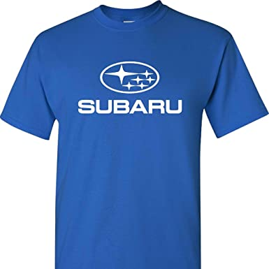 subaru logo. subaru logo on a blue t shirt