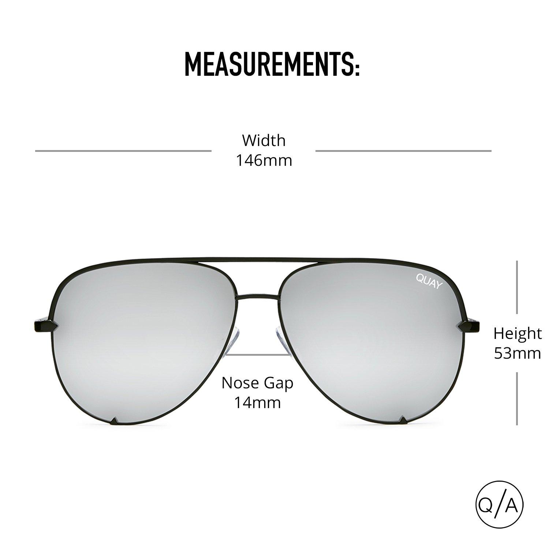 Quay Australia HIGH KEY MINI Men's and Women's Sunglasses Aviator Sunnies - Black/Silver by Quay Australia (Image #5)